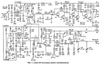 Схема CW-трасивера прямого преобразования