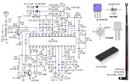 Схема на cxa1238s