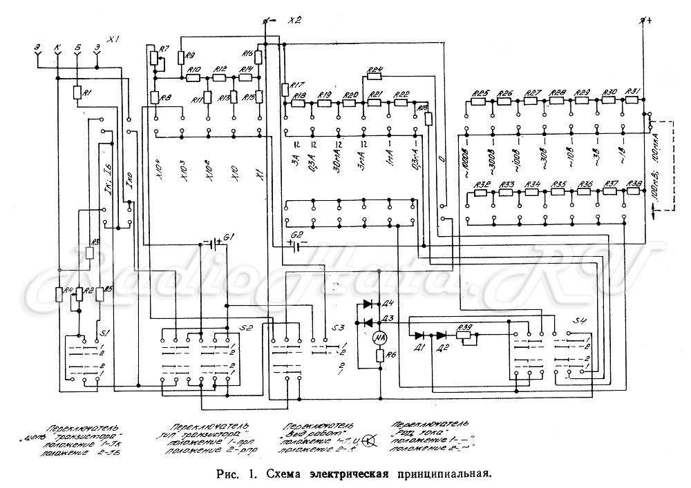 Ампервольтомметр схема